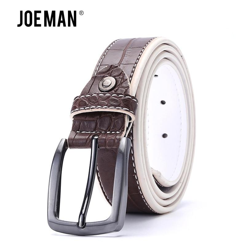 Men Belt Crocodile Pu Man Belt Faux Leather Alligator Pattern Designer Belt Gun Metal Buckle High Quality 3.5 CM Belt Width