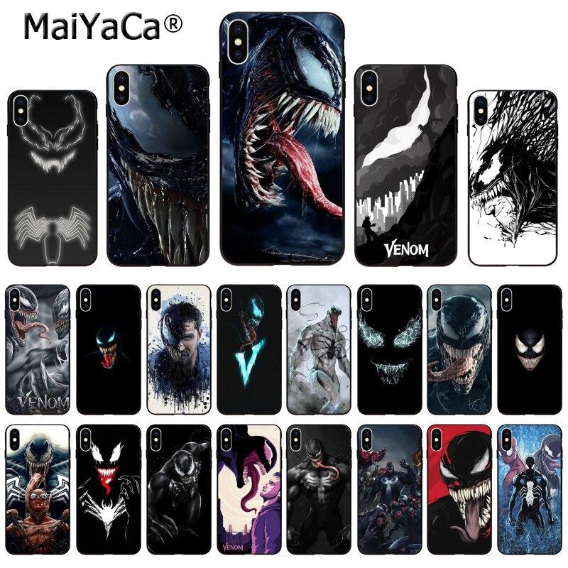 Maravilla de maiyaca Venom más nuevo superhéroe lindo en venta funda para iPhone x 66S 7 8 Plus 5 5S SE XS XR XS MAX cubierta móvil