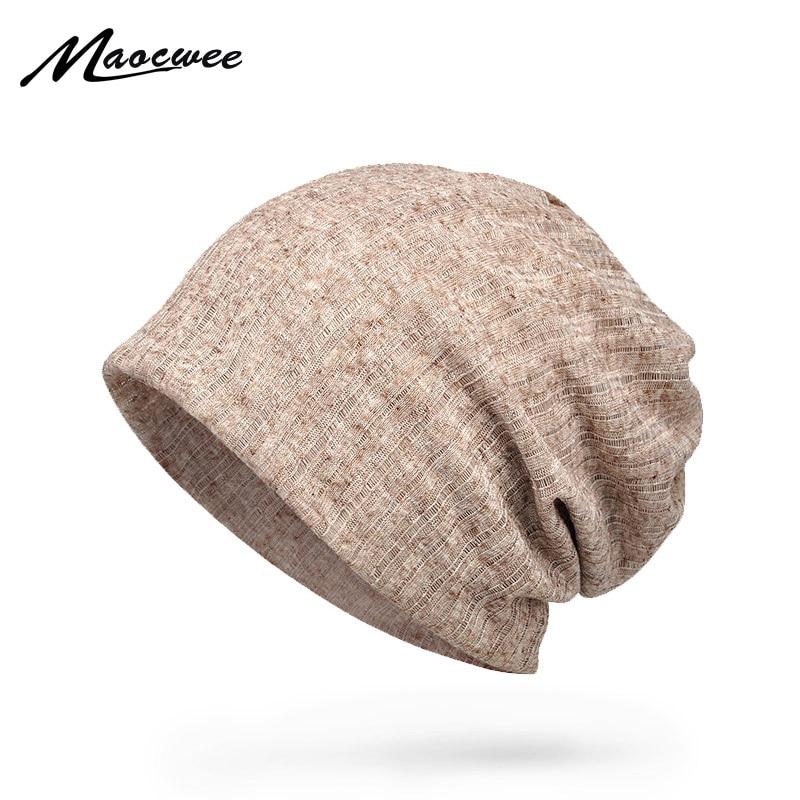 Летние тонкие дышащие шапки MAOCWEE для мужчин и женщин, шапочки, шапка, шарф, двухцелевой Модный женский ободок для волос, Солнцезащитная шляпа