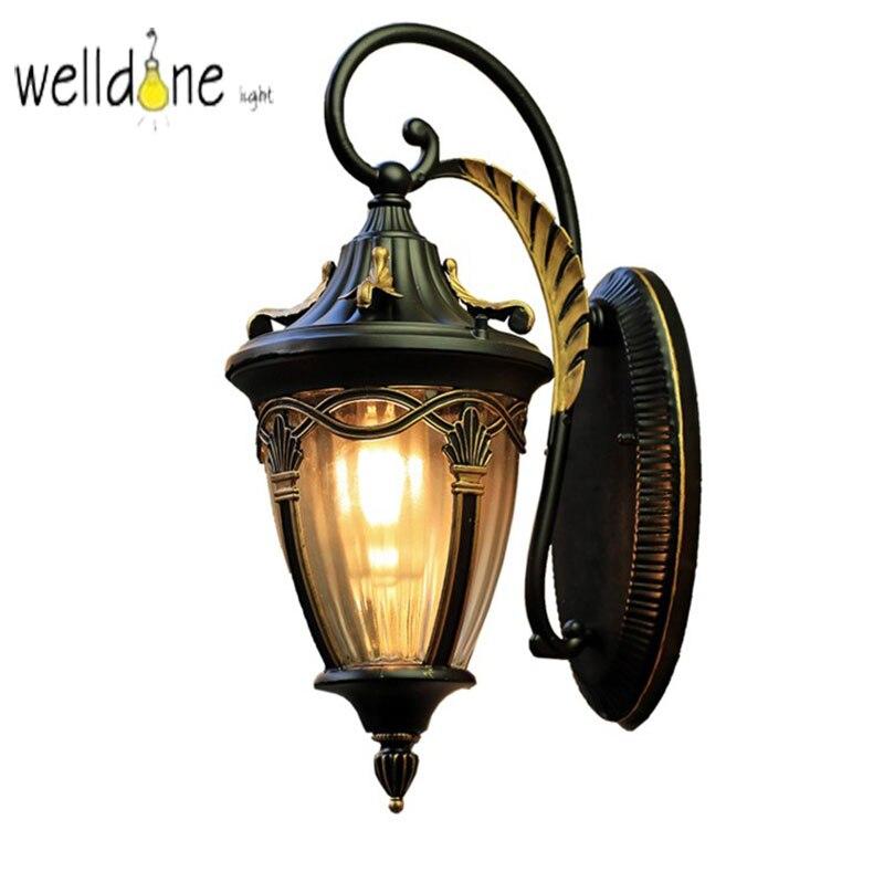 مقاوم للماء الرجعية الجدار مصباح 110 فولت 220 فولت LED الممر فناء الألومنيوم في الهواء الطلق الجدار مصباح