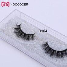3D vrais cils de vison fourrure Faux cils bande épaisse Faux cils maquillage beauté 100% à la main paillettes emballage D104