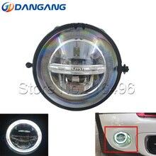 Для BMW Mini Cooper R55 R56 R57 R58 R59 R60 R61 светодиодный противотуманный фонарь с ангельскими глазами DRL светодиодный дневные ходовые огни