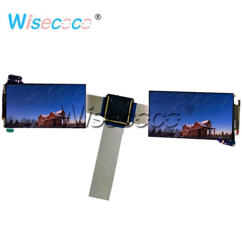 شاشة LCD مزدوجة الشاشة مقاس 5.5 بوصة 4K 3840 × 2160 IPS 60 دبوس مع لوحة تحكم MIPI لنظارات Raspberry Pi VR