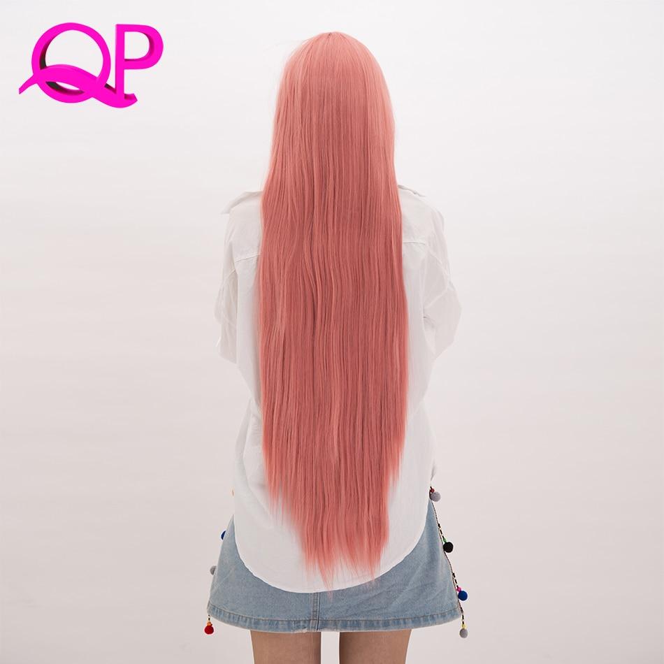 Peluca de pelo sintético de pelo largo y sedoso para mujer Qp, pelucas de fibra de alta temperatura para Cosplay