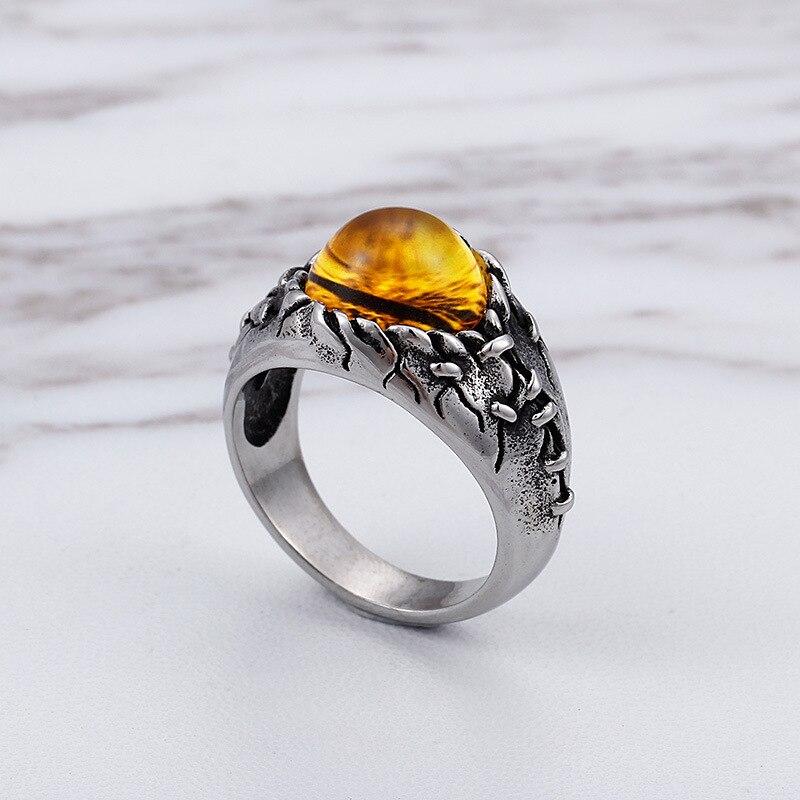 Real magic anel retro jóia dos homens jóia de aço titanium