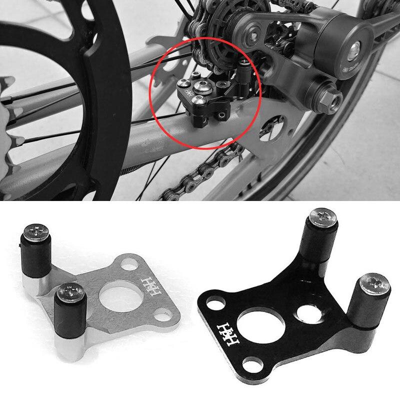 Bicicleta plegable baja resistencia desviador trasero DIP para brompton cadena de enlace partes ultraligeras 7,7g 2 colores