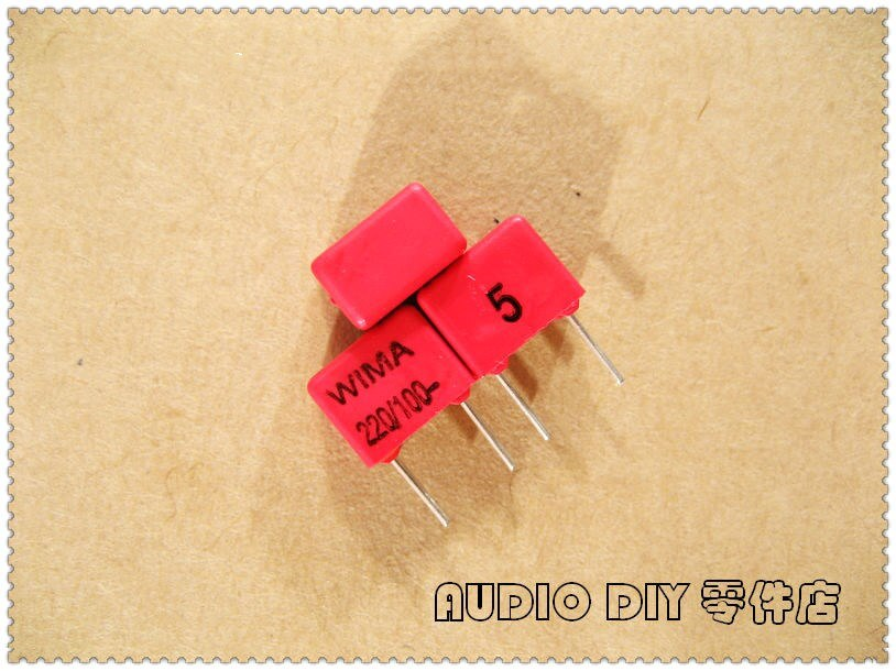 10PCS/50PCS WIMA FKP2 220pF 100V 100 v220pf 5% folie film kondensator 0,22 nF 221