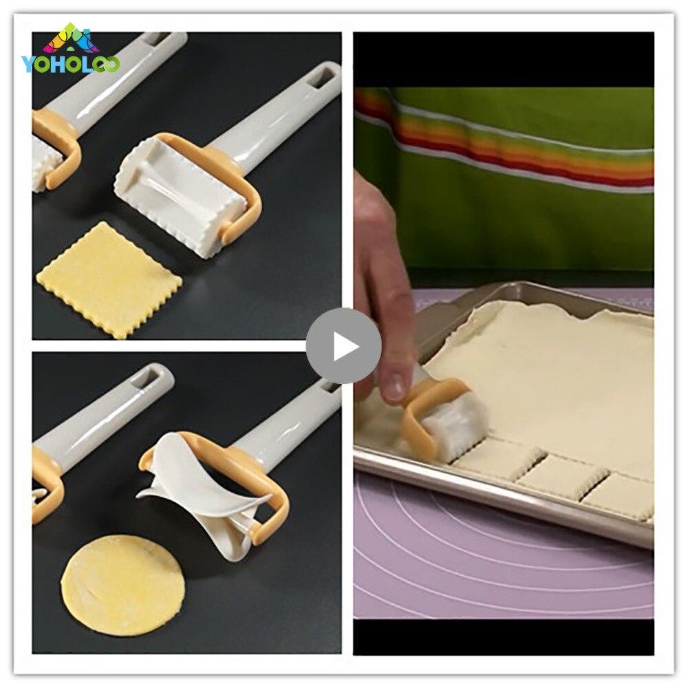Cuadrado molde del cortador de fondant molde para Bola de masa hervida cortador de pastelería pan pastel herramientas de decoración de masa cortador de galletas de corte de cuchilla de pastelería