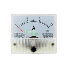 DC التناظرية متر لوحة 75A أمبير الحالي مقاييس أمبير 85C1 0-75A قياس