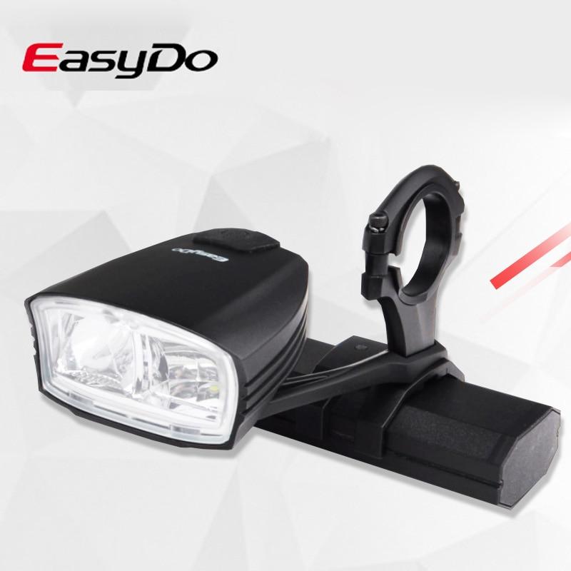 Interruptor inteligente de luz de bicicleta de haz alto/bajo Easydo, manillar de bicicleta de carretera MTB, faro delantero recargable por USB, lámpara LED frontal