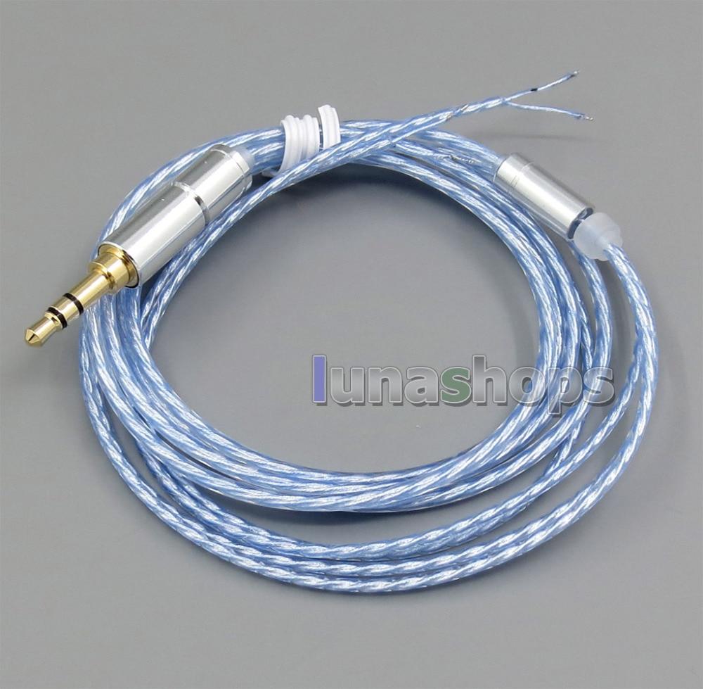 LN005234 4n OCC + Cable plateado puro para reparación, Shure B & W JVC SONY, auriculares
