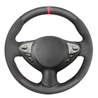 black synthetic leather black suede steering wheel cover for infiniti fx fx35 fx37 fx50 nissan juke maxima 2009 2014 sentra 2016