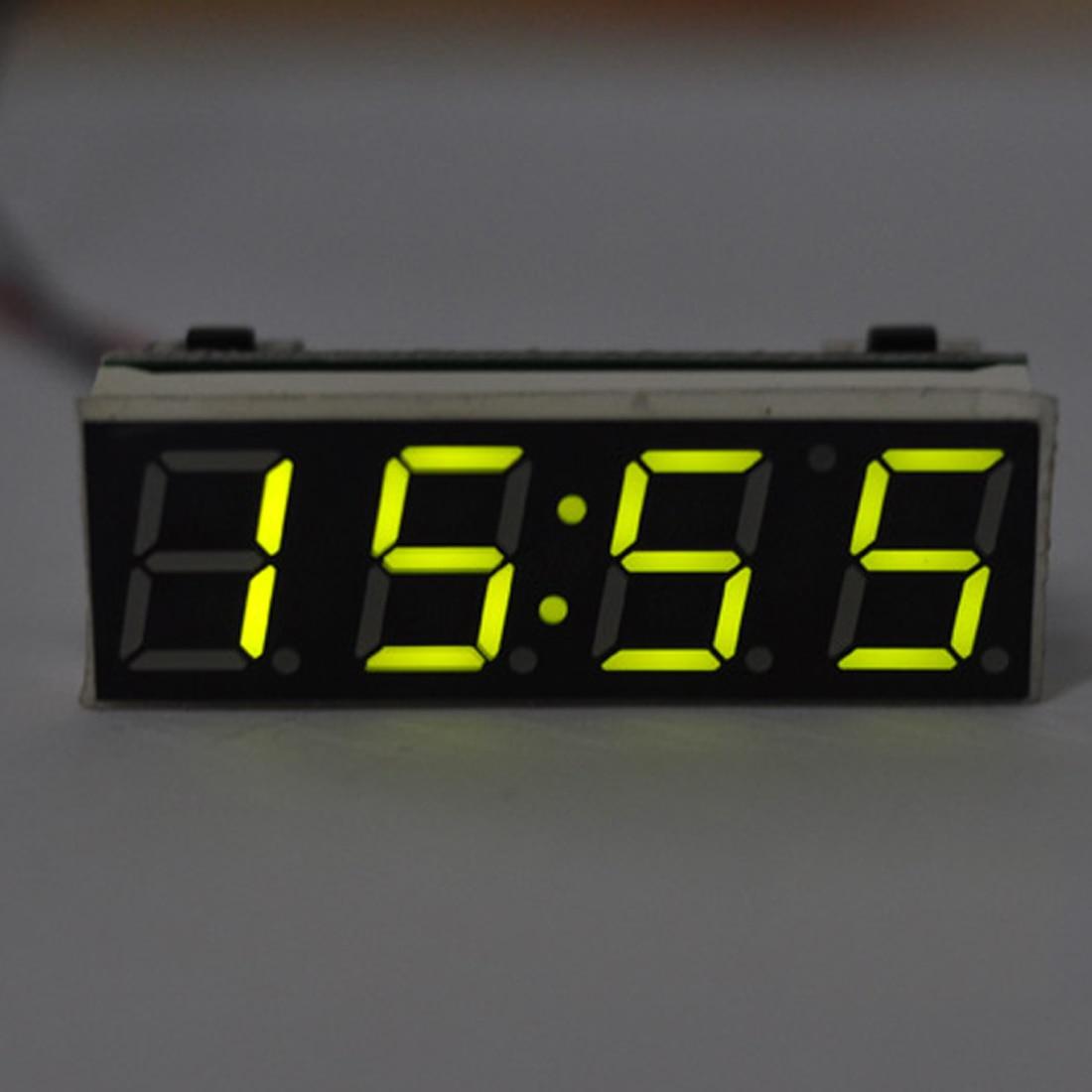 Reloj Digital 3 en 1 LED DIY temperatura y módulo de voltaje electrónico de alta precisión DC 7-20V
