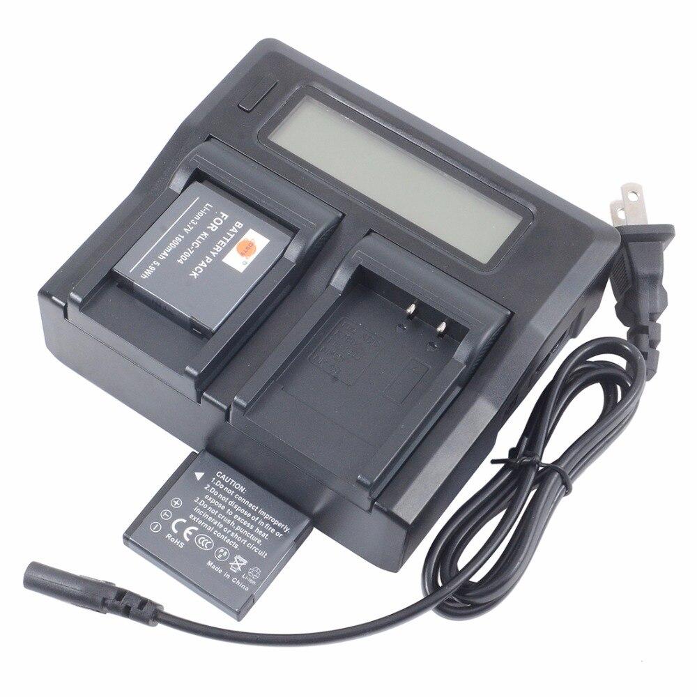 Dste 2x KLIC-7004 bateria com 1.5a carregador de bateria usb duplo para kodak q7 Q-S1 m1033