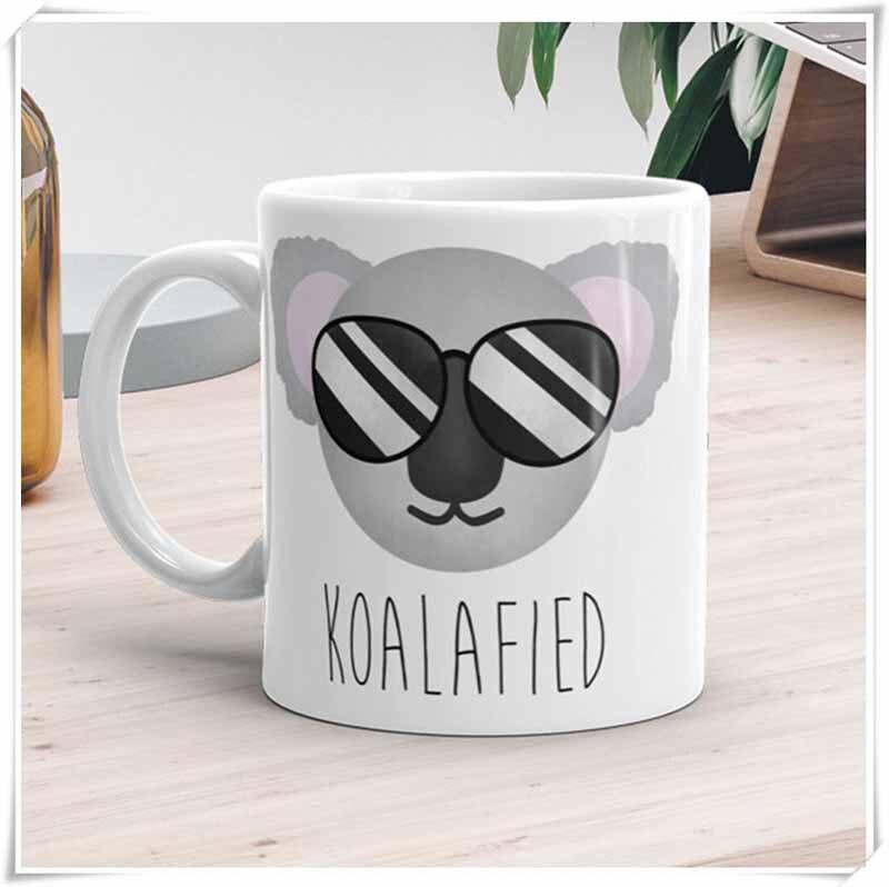 Divertida taza calificada Koala Bear Pun lindo Animal gafas de sol, divertidos animales, regalo para amantes del café, tazas divertidas, regalos, tazas de té, 11oz
