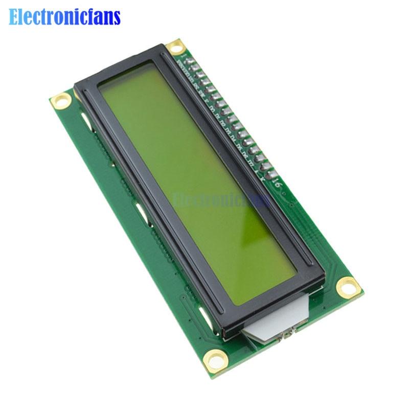 1602 16X2 módulo LCD IIC I2C TWI S I Serial interfaz amarillo pantalla LCD 1602 16X2 caracteres para controlador Arduino