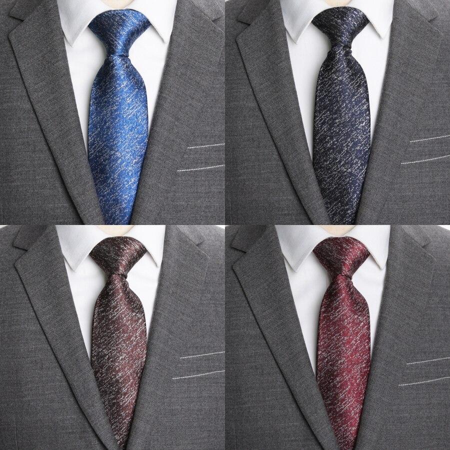 Мужские галстуки однотонные 8 см деловые Свадебные модные галстуки для мужчин жаккардовые галстуки для мужчин аксессуары для рубашек галст...