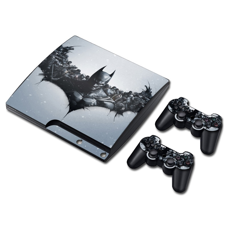 DC Batman Joker Harley Quinn pegatina de piel para PS3 Slim PlayStation 3 consola y controladores para PS3 Skins pegatina de vinilo