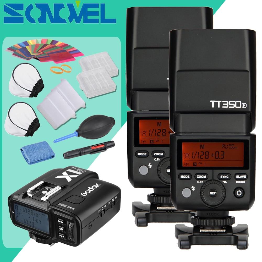 Флэш вспышка Godox 2x TT350F 2 4G HSS TTL GN36 + триггерный передатчик для фотовспышки Fuji|flash