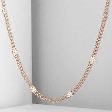 3mm Frauen Mädchen Halskette Curb Kubanischen Kette 585 Rose Gold Gefüllt Halskette Mode Schmuck CN12