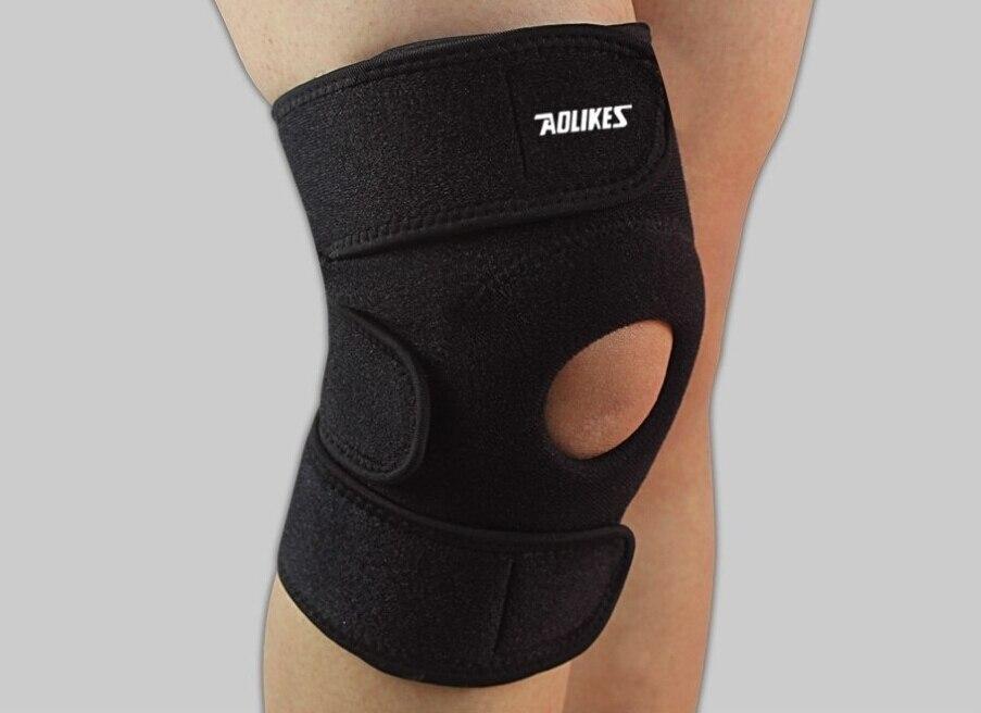 Buena calidad 2 unids/lote rodilla soporte ajustable rodilla soporte Patella deportes Protector de la rodilla envuelve la rótula envío gratis