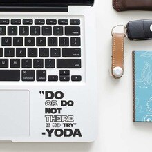 Мастер Йода мотивация Цитата наклейка для ноутбука трекпад наклейка для Macbook Стикер Pro Air Retina 11 12 13 15 дюймов Mac тачпад кожи