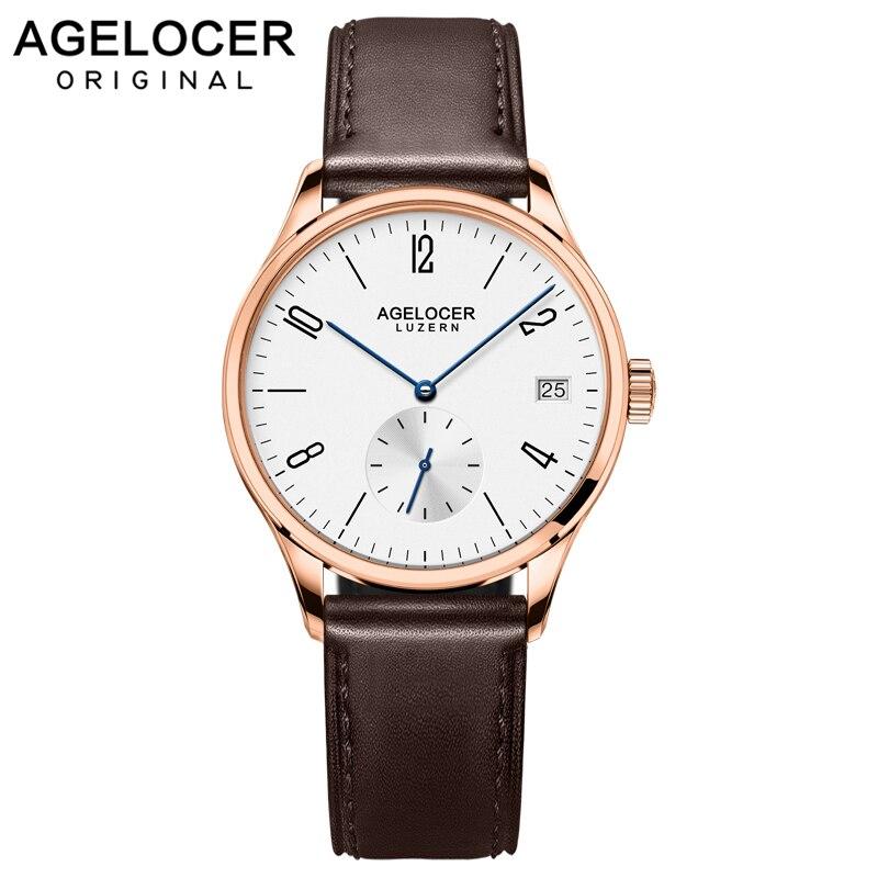 AGELOCER-ساعة يد نسائية ، كرونوغراف نسائي ، لون ذهبي ، أوتوماتيكي ، غير رسمي ، ماركة سويسرية شهيرة