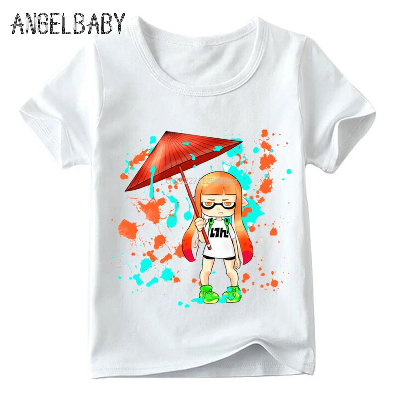 Camiseta divertida de dibujos animados para niños, camiseta de verano de manga corta para niños/niñas, camiseta informal para niños, ooo5190
