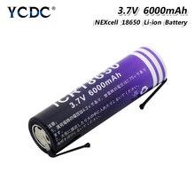 1/2/4 baterias duráveis do li-íon do lítio 3.7 v 6000mah 18650 dos pces com 2 cabo diy para o farol aéreo da lanterna do modelo do portátil