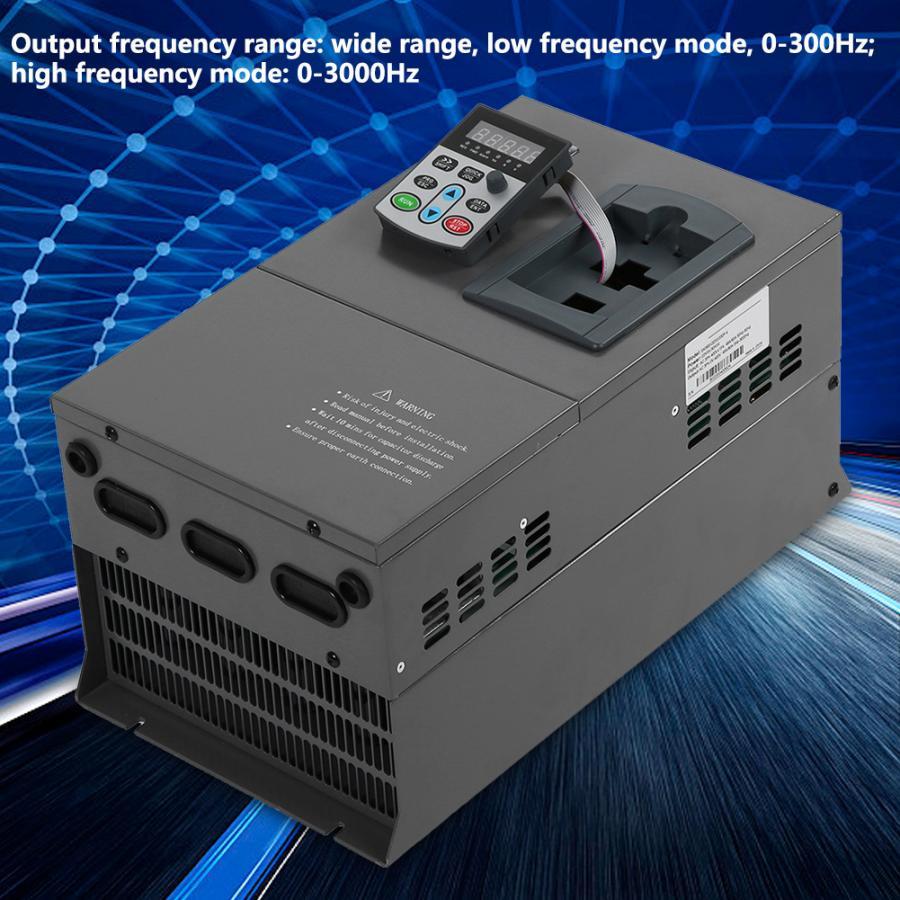Преобразователь переменной частоты 22Kw 3HP перегруженный векторный двигатель VFD 3 фазы 380В векторный инвертор