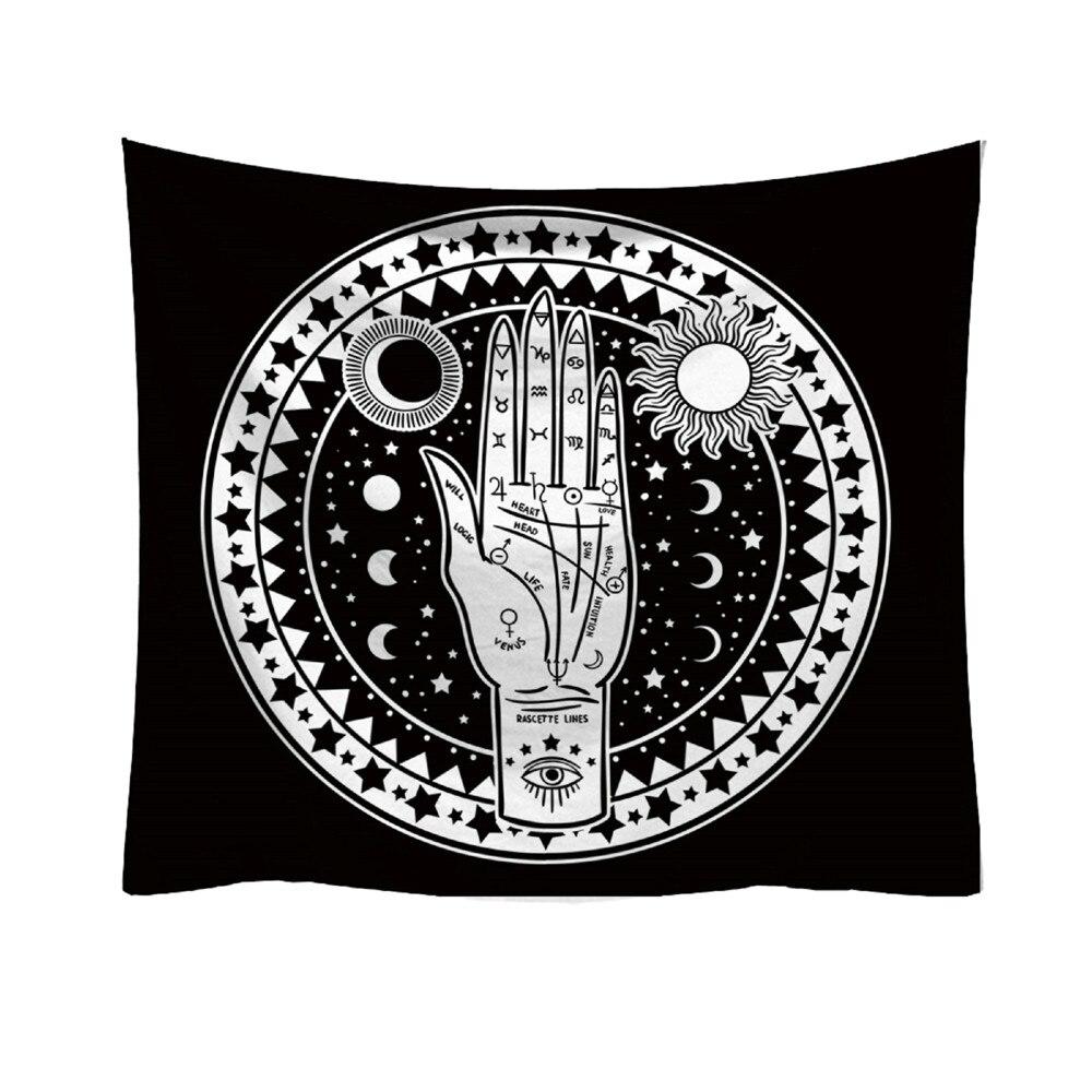 Mode Tapisserie Frische Stil Tarrot Sonne Mond Muster Decke Mandala böhmischen Dekorative tapisserie Hippie Wohnkultur