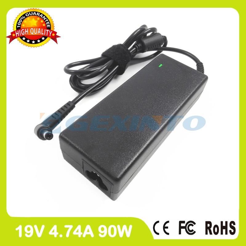 Cargador de ordenador portátil de 19V, 4,74a, 90W, PA-1900-42 adaptador de CA...