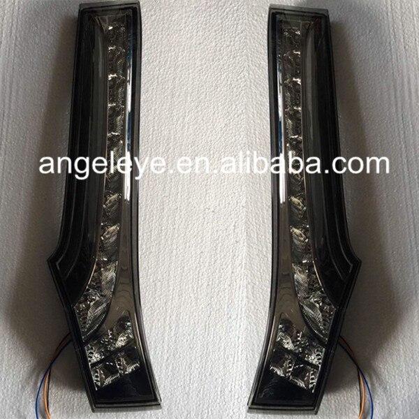 For HONDA Fit Jazz LED Column Lamp Tail Lamp Smoke Black Color 2014 Year BW