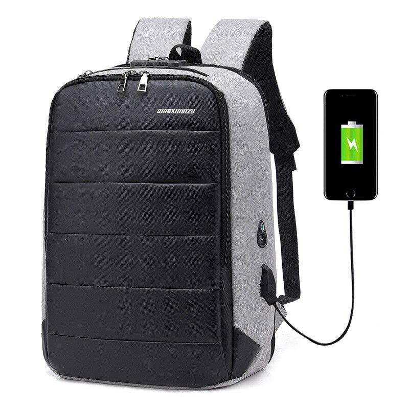"""Nueva Mochila de viaje para hombres, Mochila para adolescentes de gran capacidad, Mochila para hombres, Mochila antiladrones con carga USB de 17,2 """", Mochila para ordenador portátil resistente al agua"""