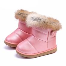 Hiver enfant en bas âge bébé bottes de neige chaussures chaud en peluche fond souple bébé garçons filles bottes en cuir hiver neige botte enfants chaussures