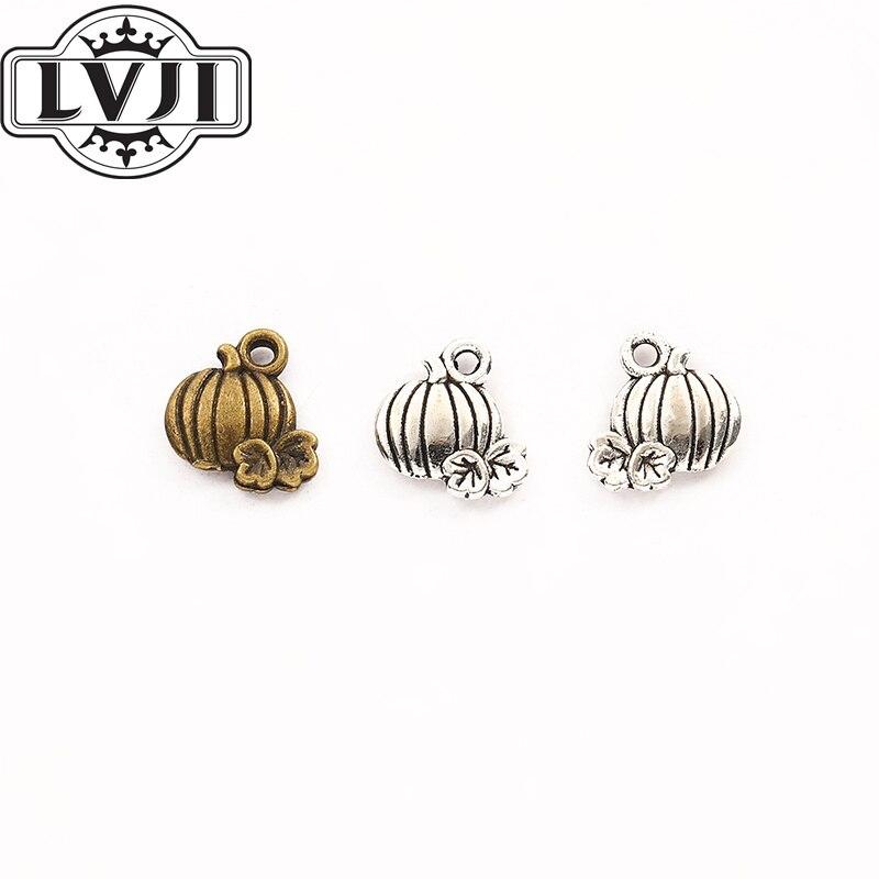 90 Uds. Colgantes de calabaza de Halloween de alta calidad, colgante de aleación de Zinc para pulsera, collar DIY, hallazgos de joyería de metal 5964