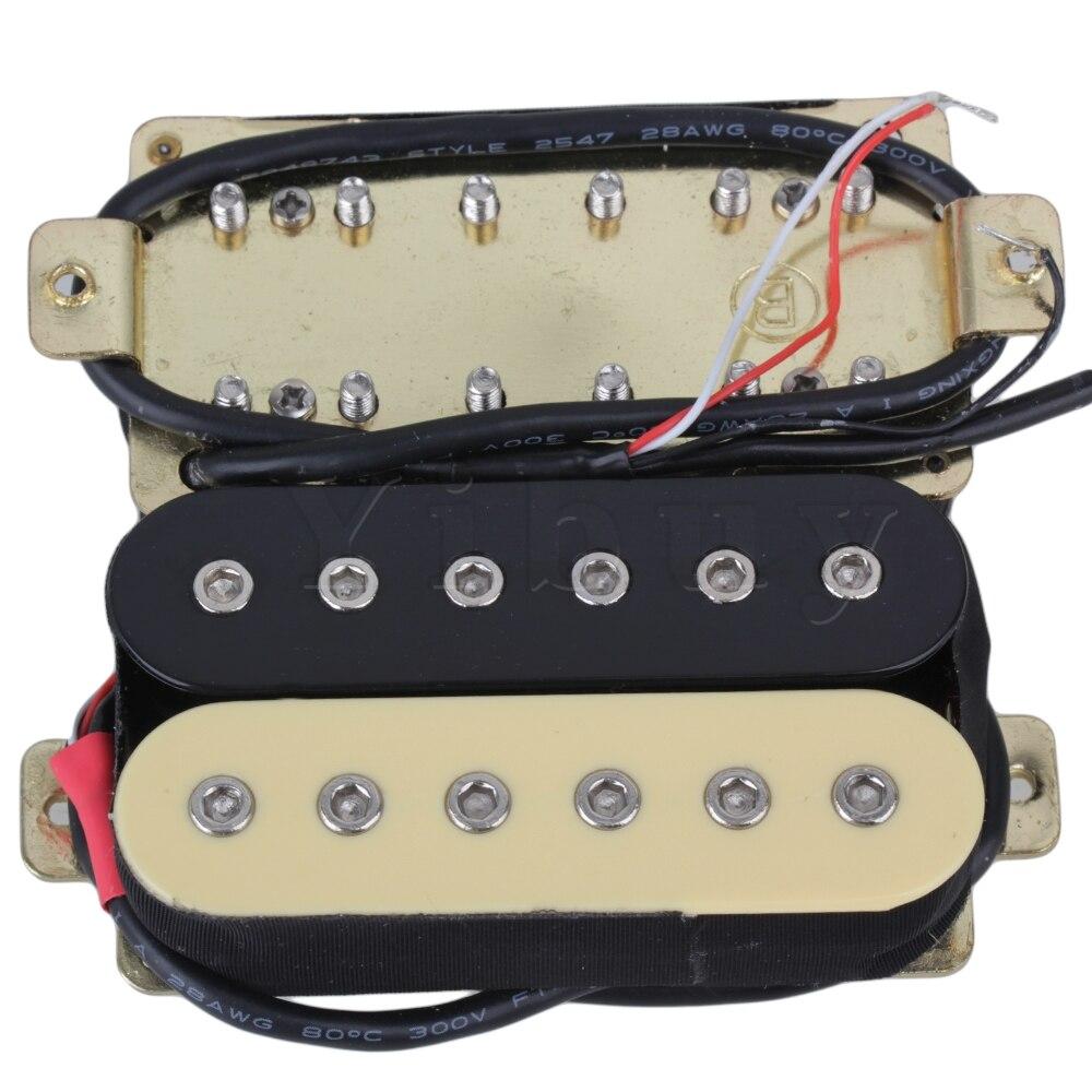Euipment Yibuy Um Par Preto e Amarelo Instrumentos Guitarra Captadores Humbucker