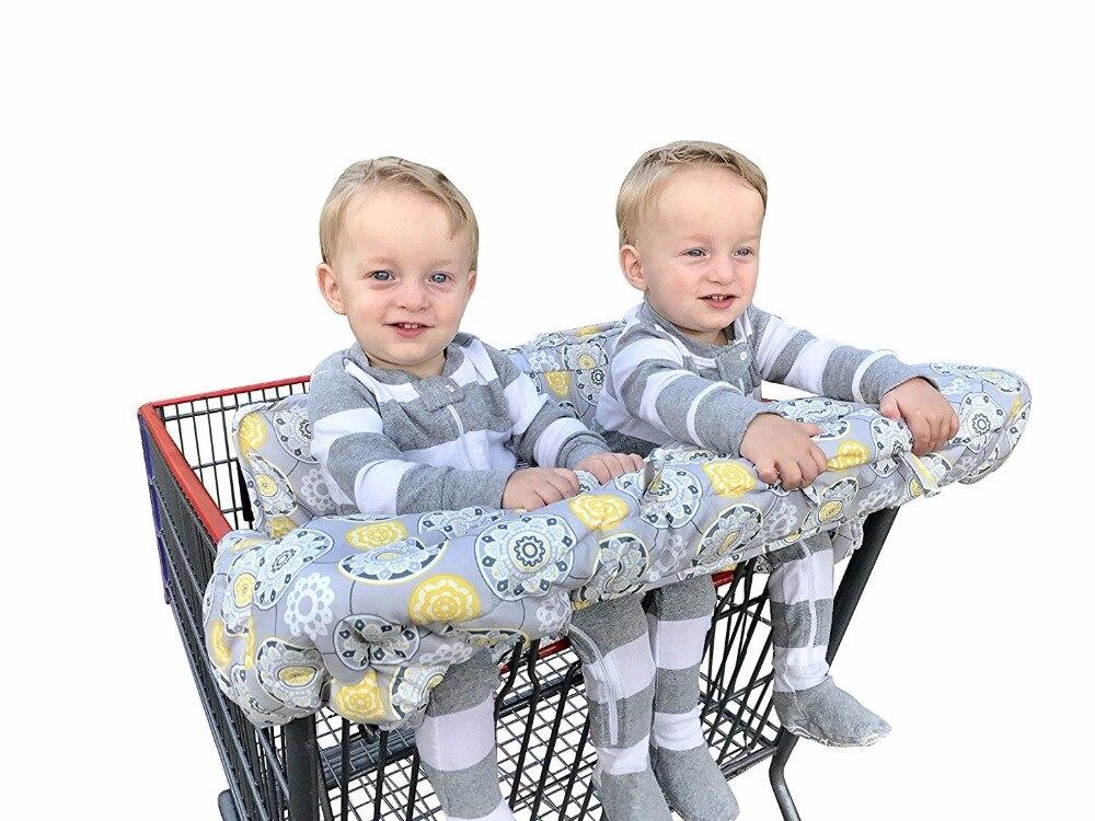 Двойное покрывало для магазиннной тележки детских сиблингов с футляром