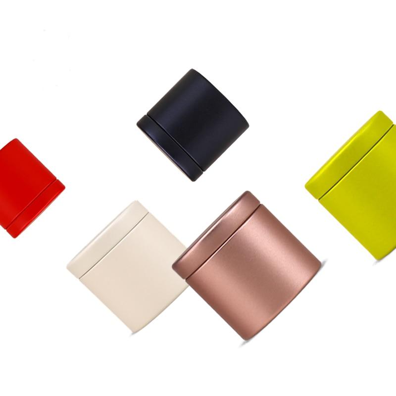 Dia47X45mm جولة البسيطة جميل الشاي القصدير مربع الساخن بيع مختومة العلبة مكتب المنزل تخزين صندوق معدني 100 قطعة/الوحدة