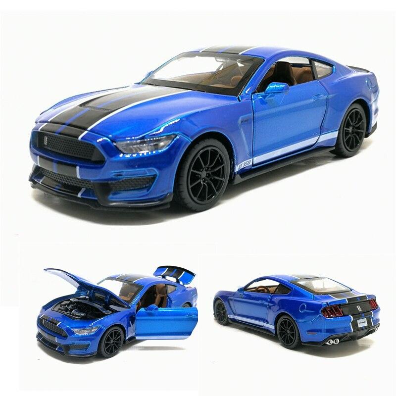 1/32 SHELBY GT350 Sport Auto Simulation Spielzeug Auto Modell Legierung Ziehen Zurück Fahrzeug Echte Lizenz Sammlung Kinder Spielzeug Geschenk