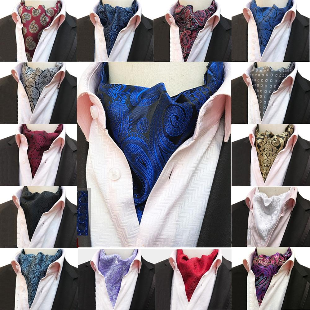 Los hombres de flores Paisley corbata boda Ascot parte negocio corbatas BWTHZ0307