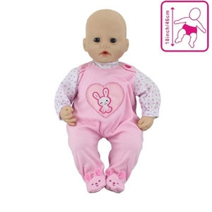 Rabbit Set Jumpsuits Doll Clothes Wear fit for 46cm/18nch baby doll, Children best Birthday Gift(only sell clothes)