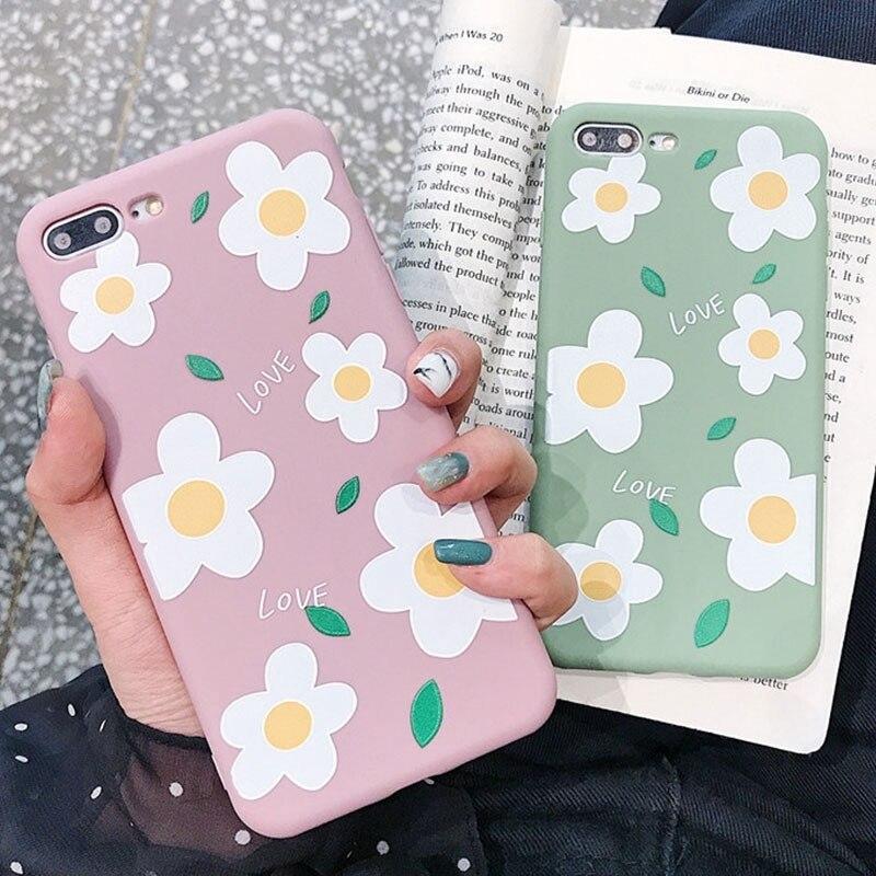 Soft Case TPU Silicone Flower Casing for IPhone 6 / 6S / 6PLUS / 6SPLUS / 7/8 / 7PLUS / 8PLUS / X / XS / XR / XS MAX