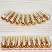 0.5-3.2mm 10pcs/set Brass Drill Chuck Collet Bits 4.3mm Shank For Dremel Rotary Tool Golden