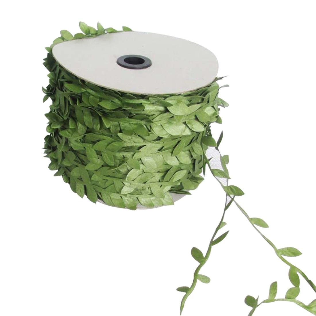 10 Meter Seide Natur Grün Künstliche Blatt Verlässt Reben Hochzeit Dekoration Laub Scrapbooking Handwerk Kranz Gefälschte Blumen