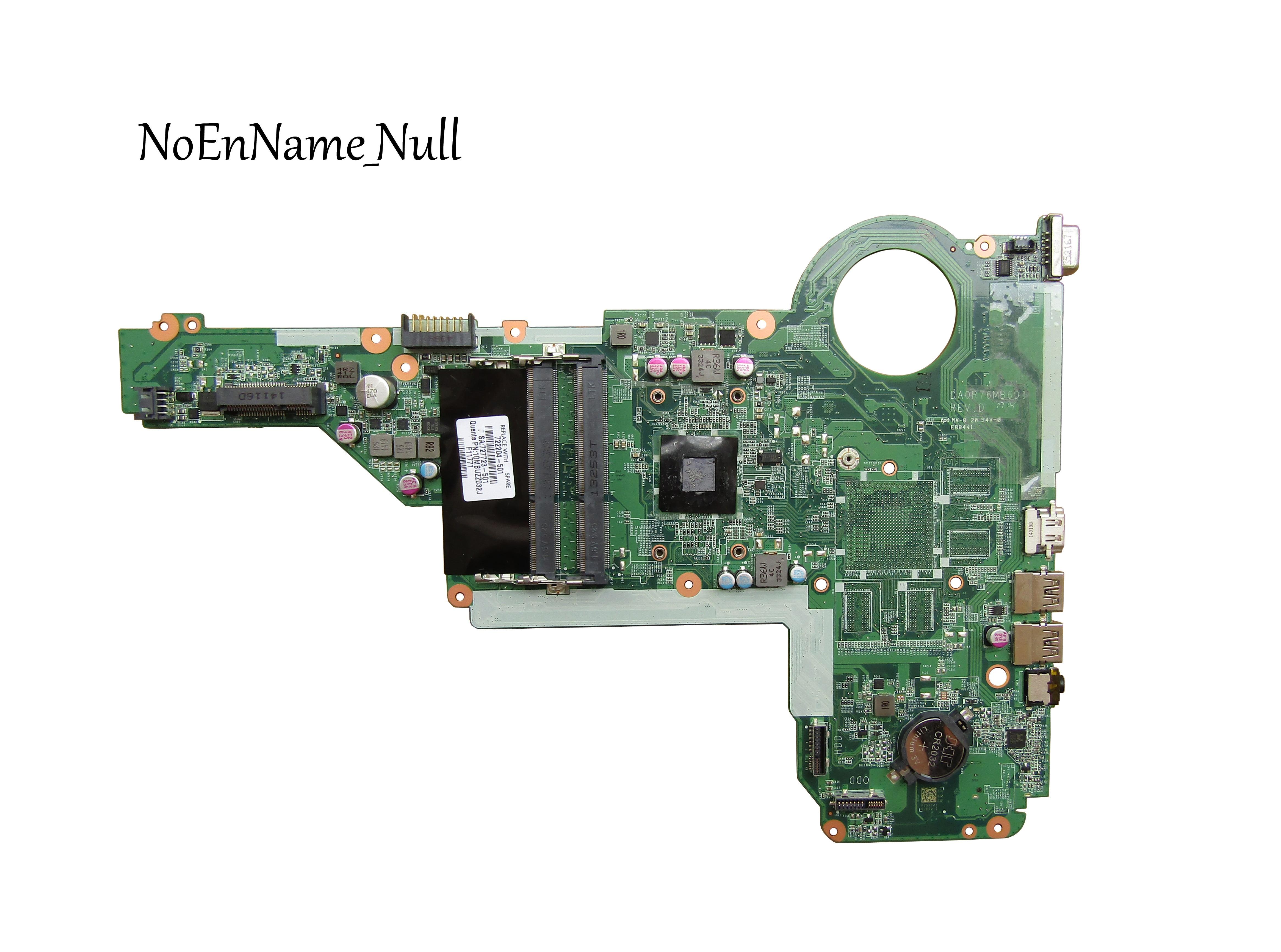 100% протестированная материнская плата 722204-501 722204-001 DA0R76MB6D0 для HP pavilion 15-E 14-E с процессором AMD A6-5200m