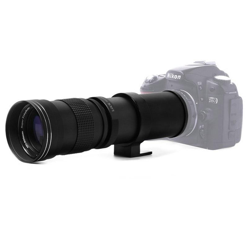 420-800mm F/8.3-16 Super Telefoto Zoom Lens para Canon Nikon Sony Pentax DSLR Camera DHL Frete Grátis