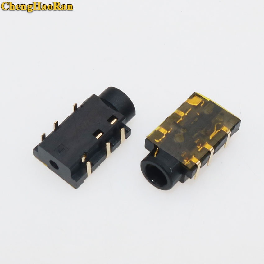 ChengHaoRan 2-5 uds 6-pin portátil auriculares de Audio micrófono Jack zócalo para Asus X550C D522C X552E K550D A55OV X55OV