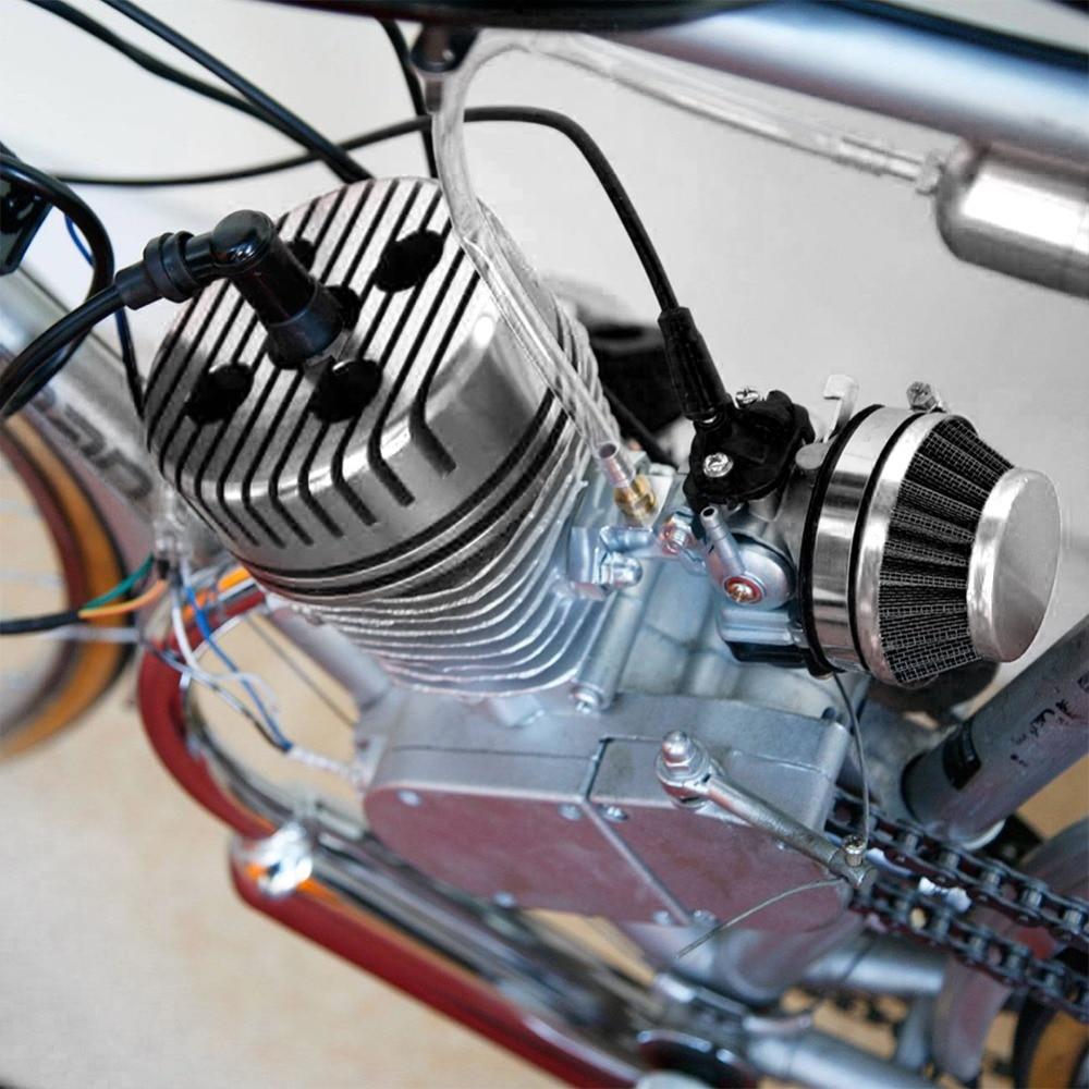 Novo 1 pçs prata corrida cnc ciclo de substituição da cabeça do cilindro alta qualidade apto para 66cc 80cc gás motorizado bicicleta redonda #292692