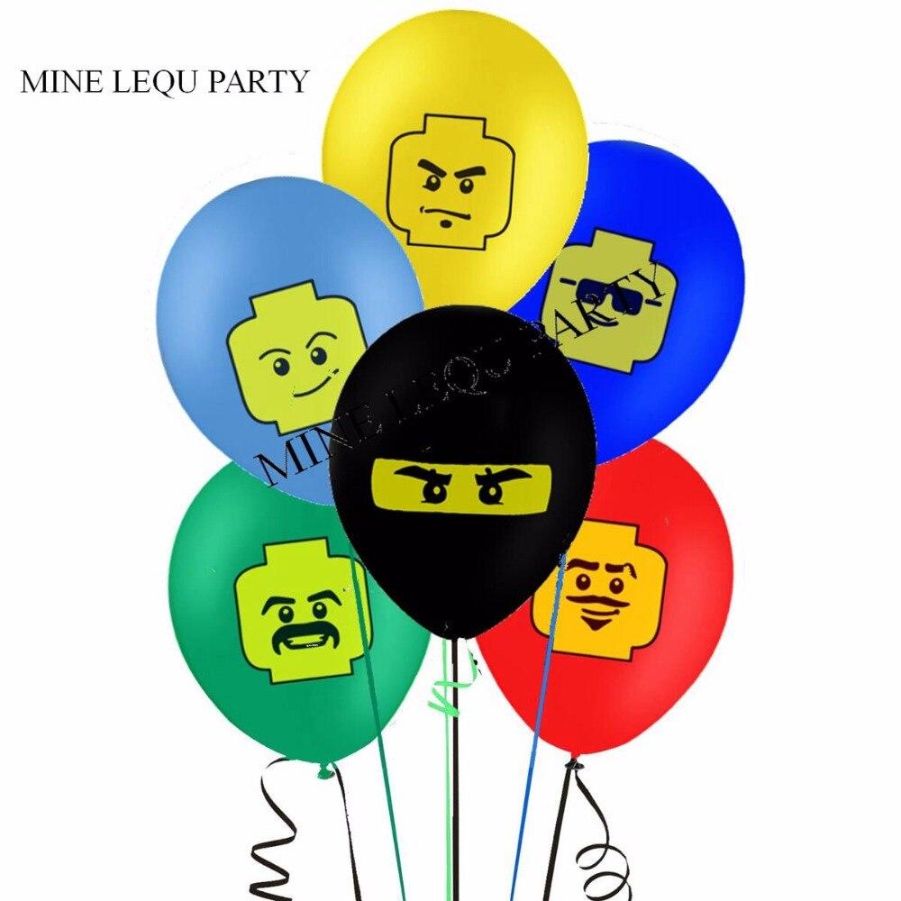 12 Uds., fiesta Ninja, decoración de fiesta de cumpleaños para niños, globos, decoración, globos de fiesta de cumpleaños, suministros de Juguetes